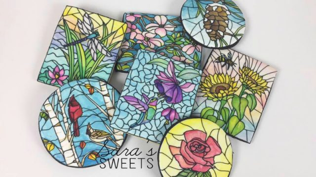 handpainted stained glass cookies