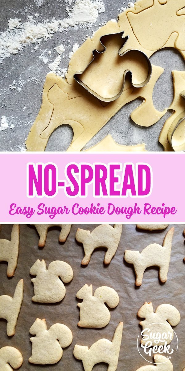 This no-spread sugar cookie recipe is my favorite! It's super easy to make and these cookies always hold their shape. Best of all? They taste AMAZING! The best sugar cookie recipe you'll ever taste!