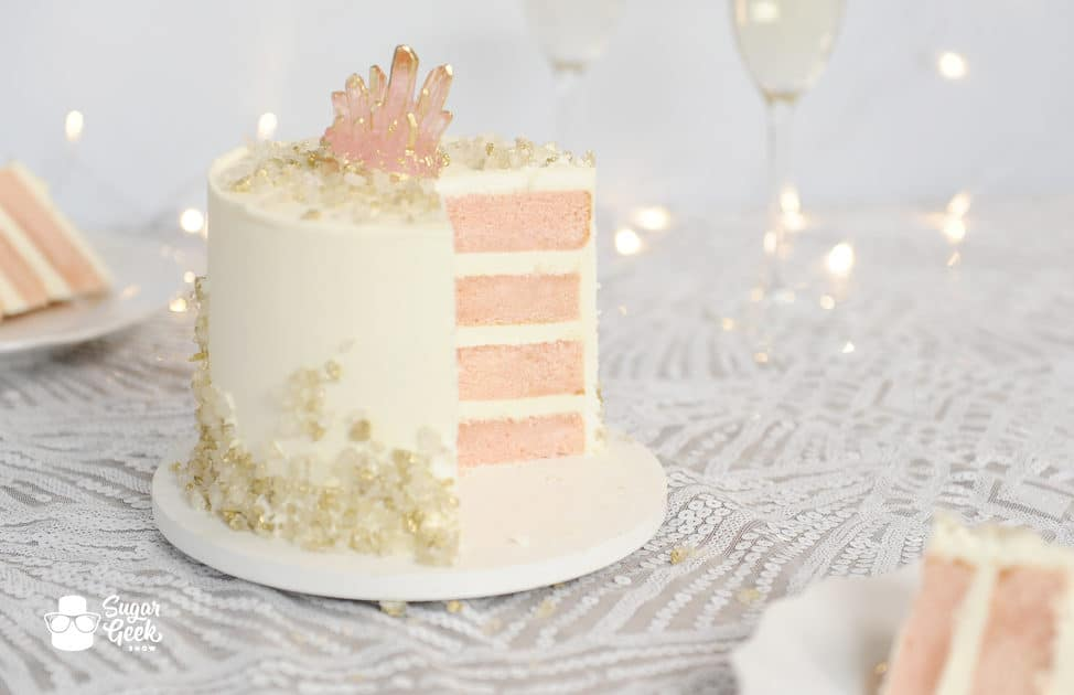 pink champagne cake that actually tastes like champagne