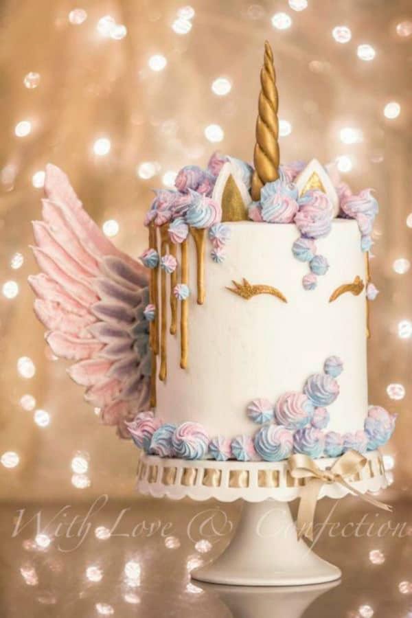 Unicorn Cake Meringue Wings