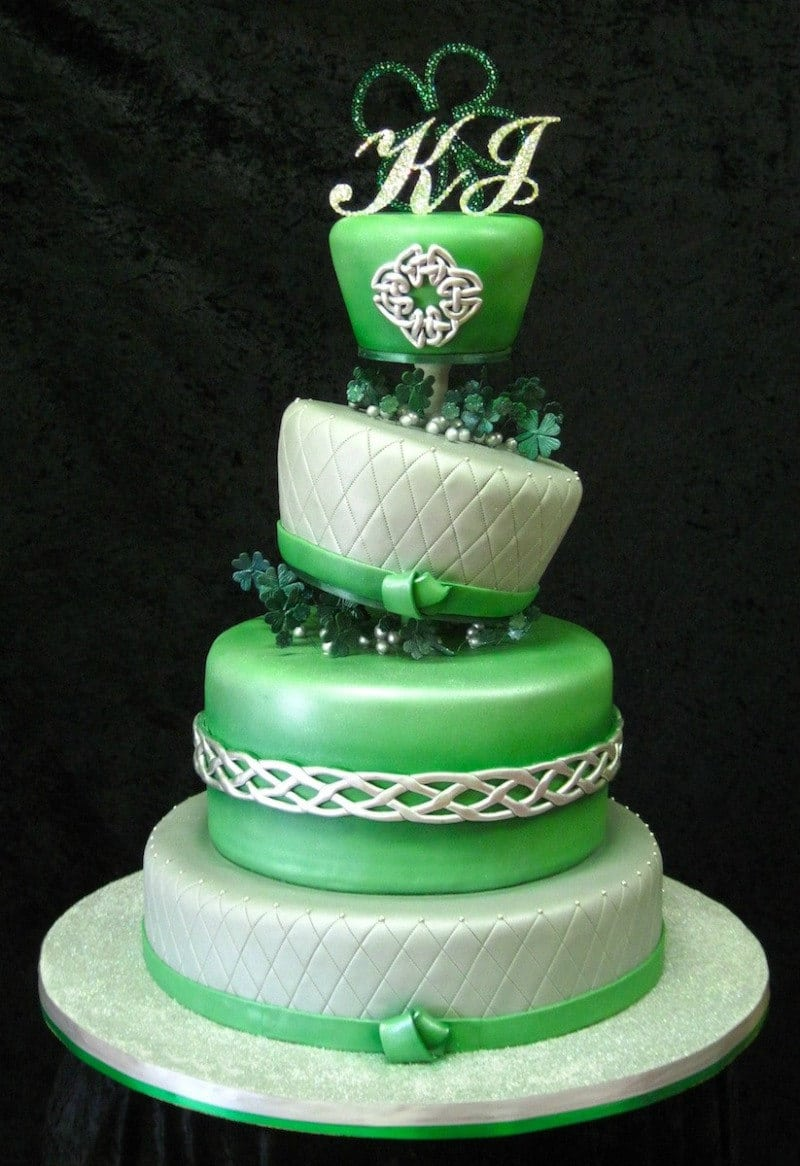 scottish wedding cakes modern green with envy 19702