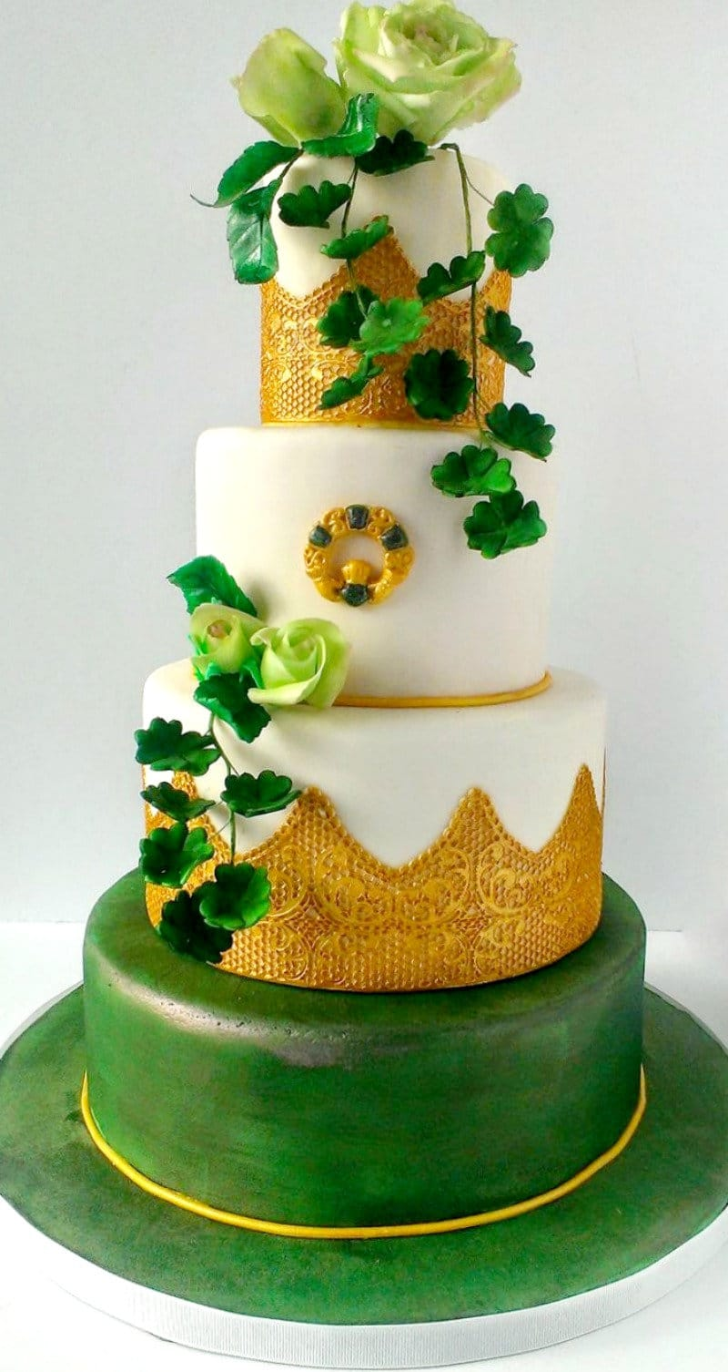 St. Patrick's Day Wedding Cake