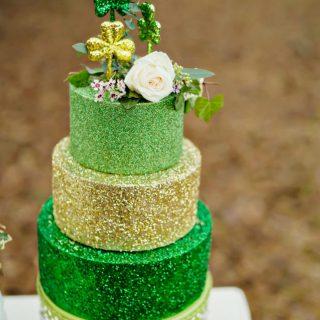 St. Patrick's Day Wedding Cake