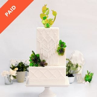 Macrame and Sugar Succulents Wedding Cake Tutorial