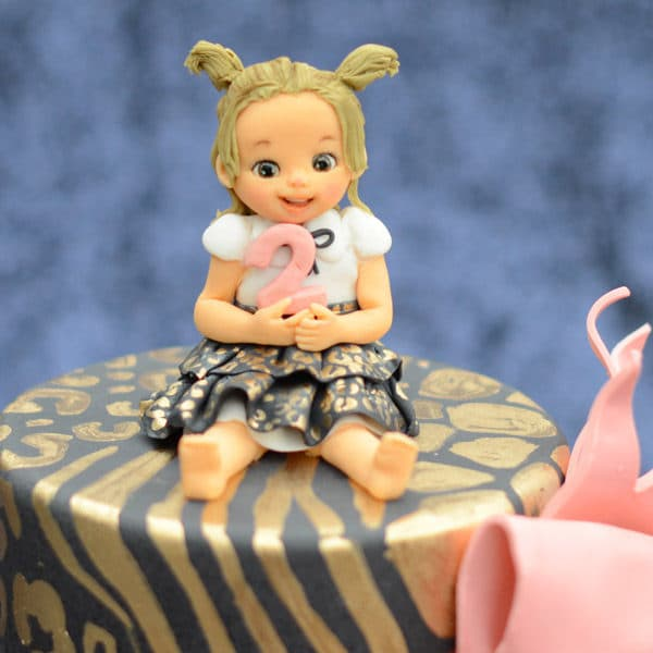 Adorable Little Girl Cake Topper