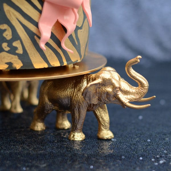 Golden Elephant Cake Stand