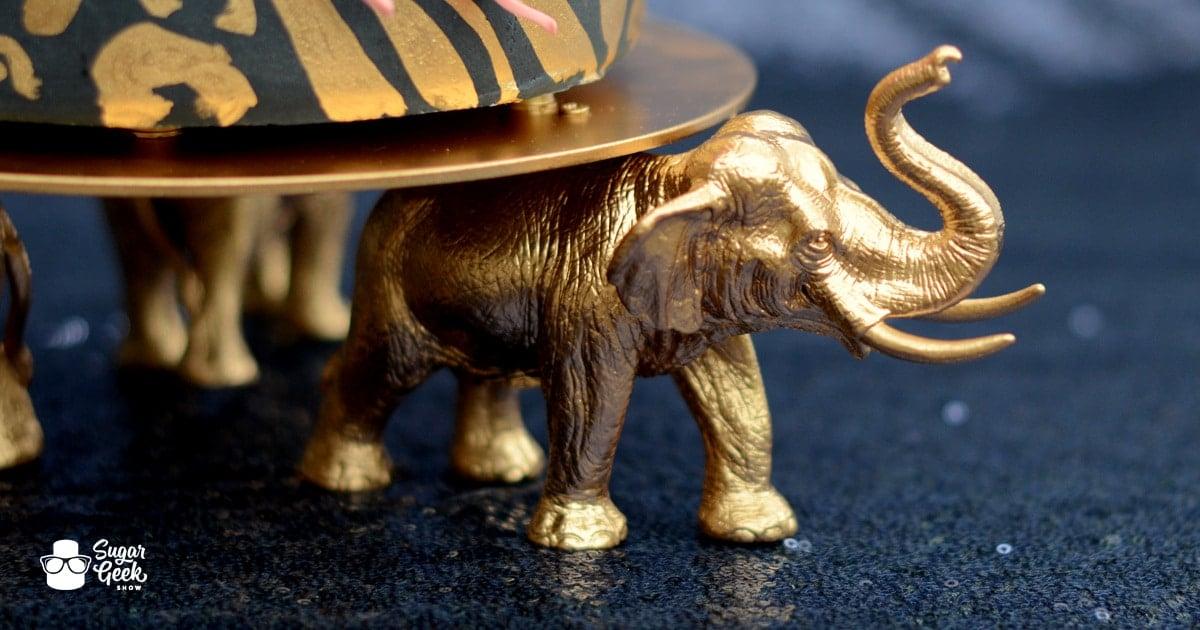 cake stand elephant tutorial
