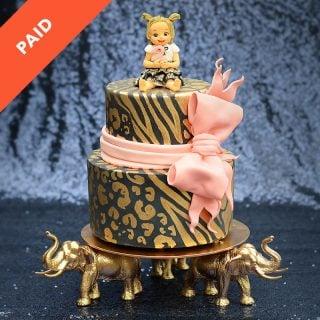 Golden Safari Cake Tutorial