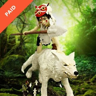 Princess Mononoke Showpiece