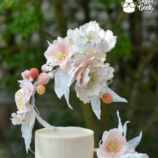 Gravity Defying Asymmetrical Wedding Cake