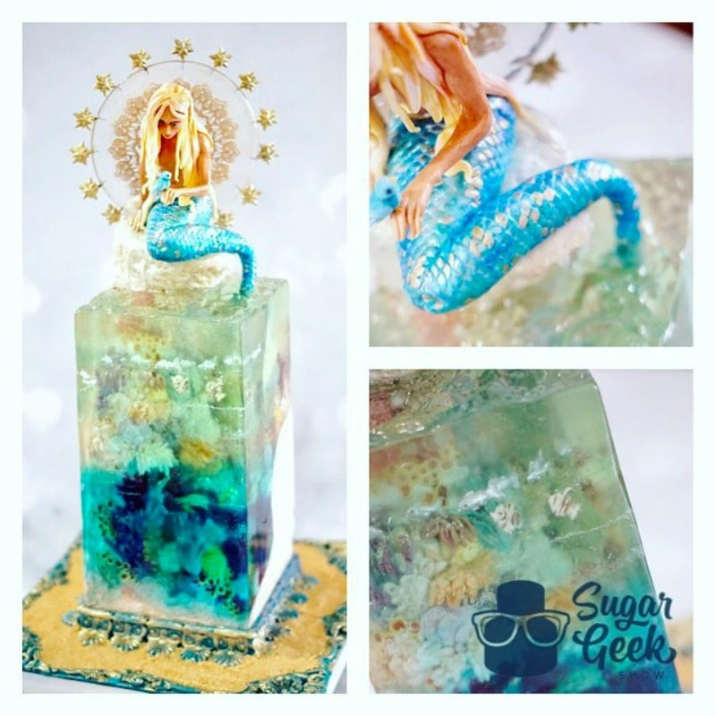 Isomalt Mermaid Sugar Piece