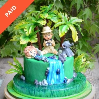 Gelatin Cake Jungle Safari featuring Sachiko Windbiel
