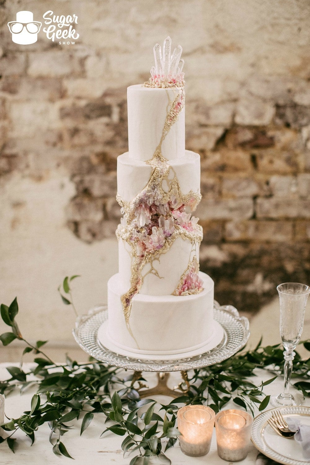 Kintsugi Crystal Wedding Cake