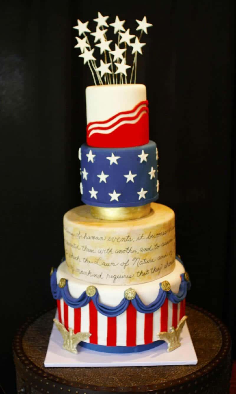 Patriotic Th Birthday Cake