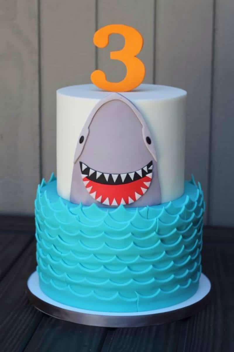Cute Shark Cake