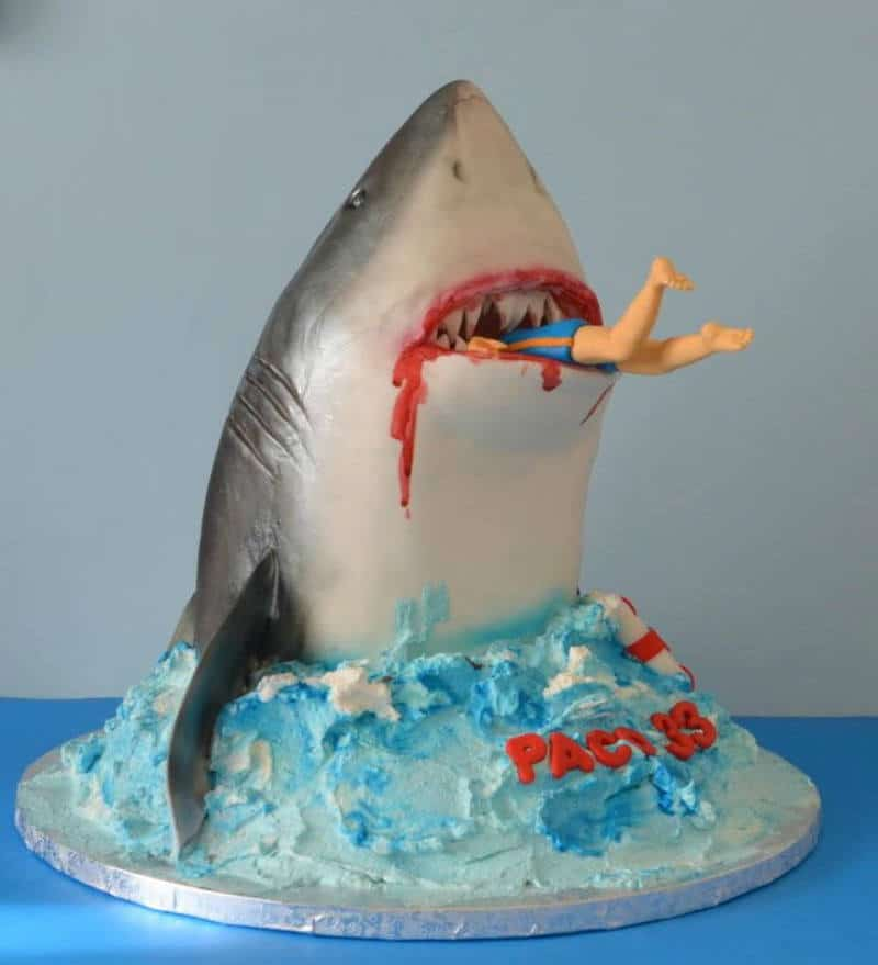 Man Eating Shark Cake