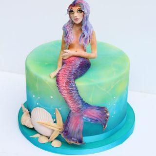 Airbrushed Mermaid Cake