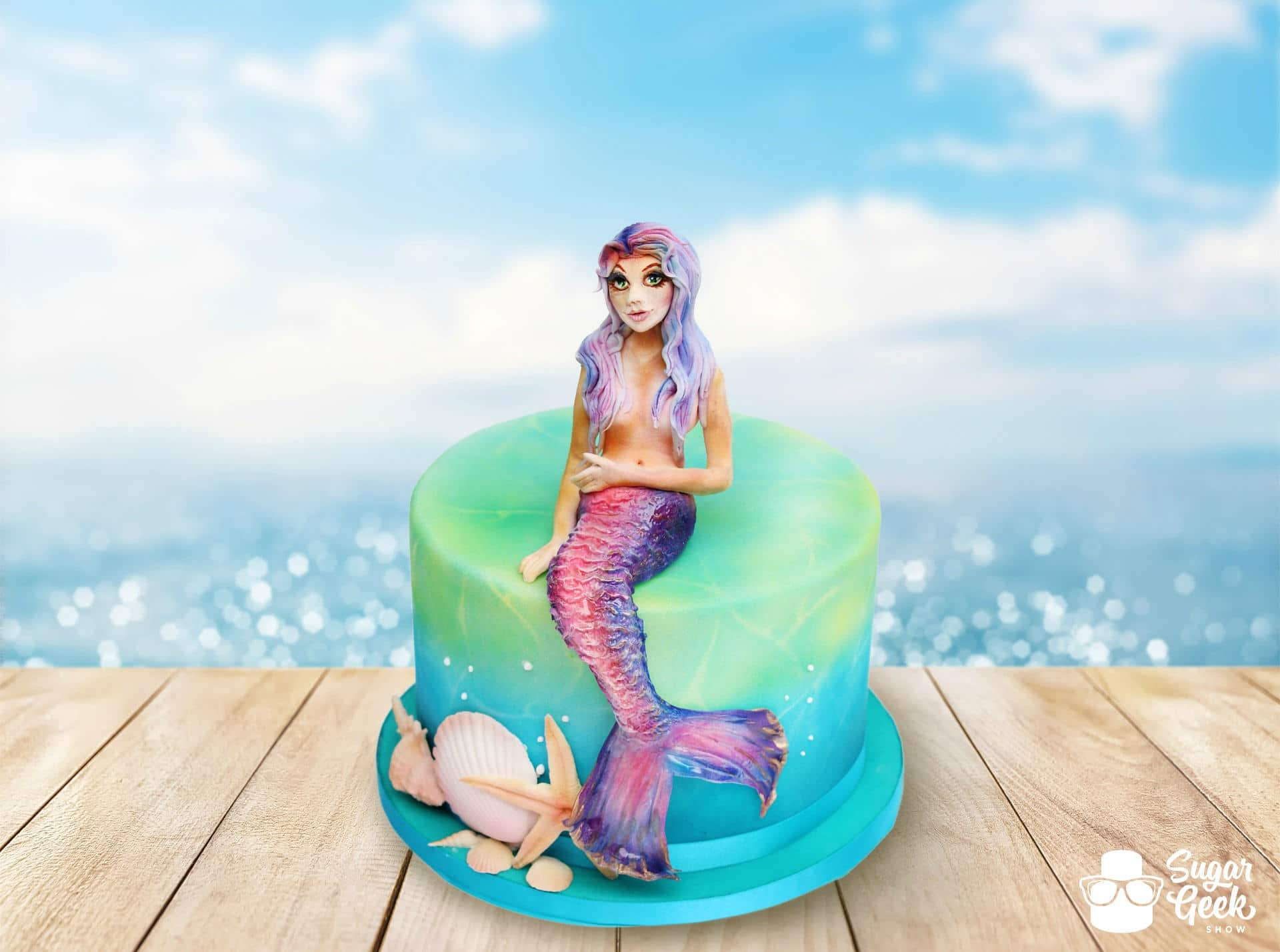 Mermaid Airbrush Cake Tutorial