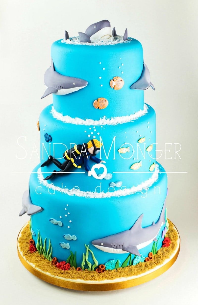 Cake Design Competition Show : 12 Killer Cakes for Shark Week   Sugar Geek Show
