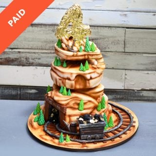Gold Mine Birthday Cake Tutorial