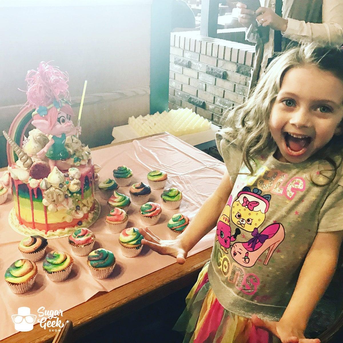 Trolls Candy Drip Cake