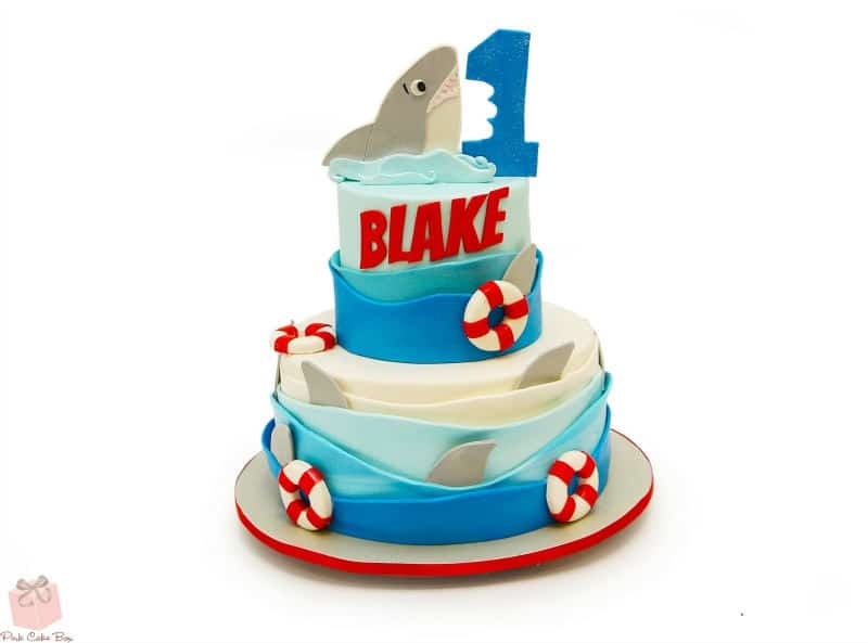 Shark 1st Birthday Cake