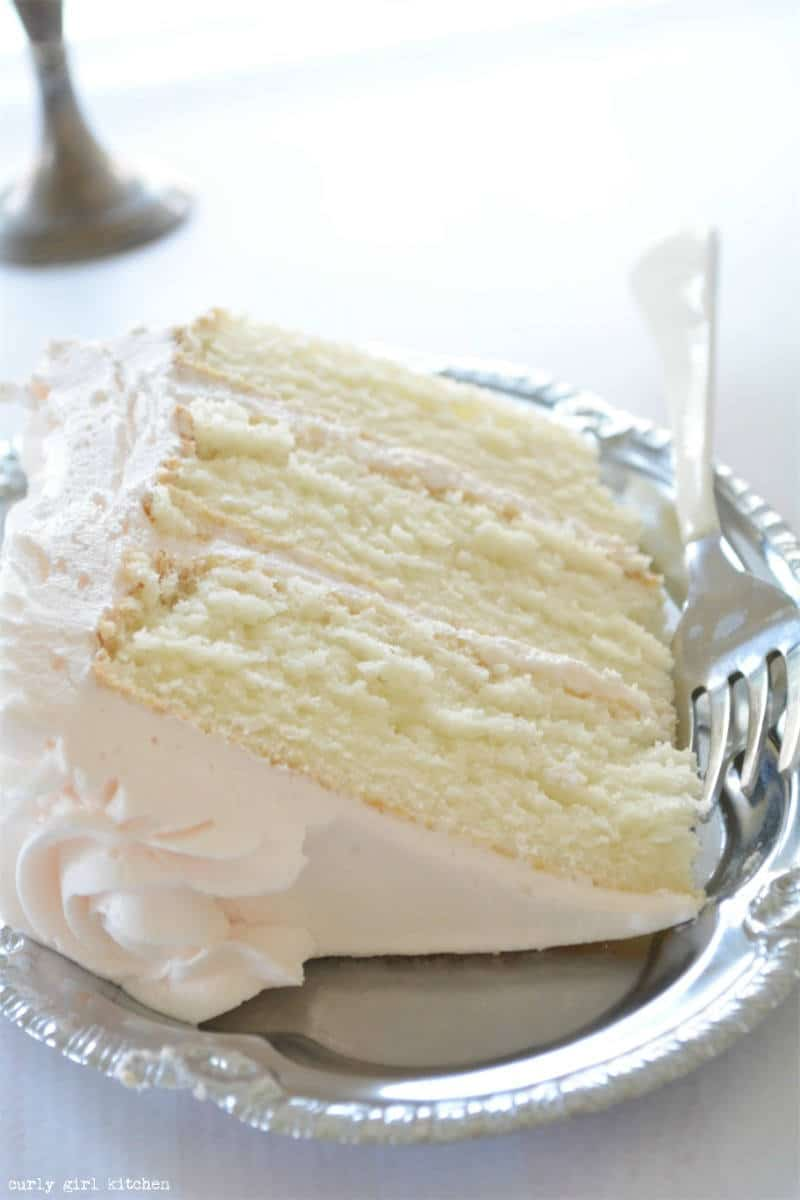 Moist slice of wedding cake