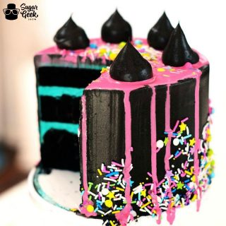 Black Glam Rock Cake