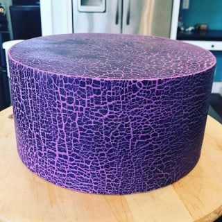 Crackled Fondant Cake