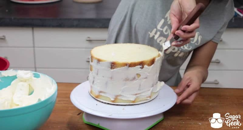 How to fill and crumb coat a cake