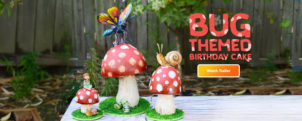 Bug Themed Birthday Cake Tutorial
