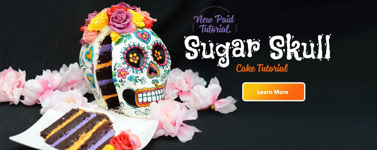 Day of the Dead Sugar Skull Cake Tutorial