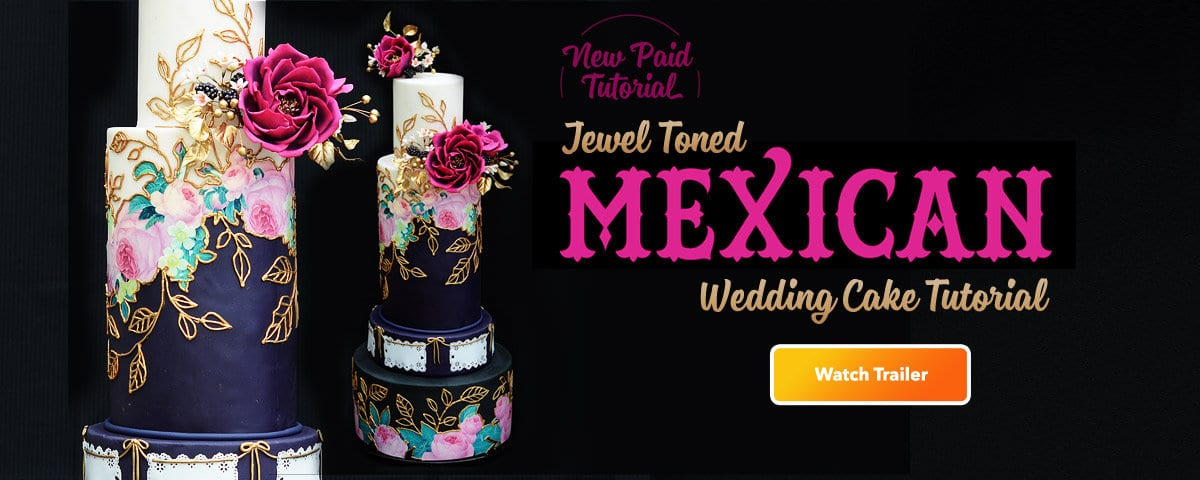 Jewel Toned Wedding Cake Tutorial