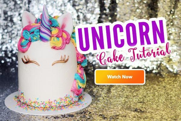 Free Unicorn Cake Tutorial