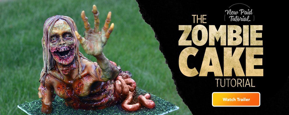 Scary Zombie Cake Tutorial