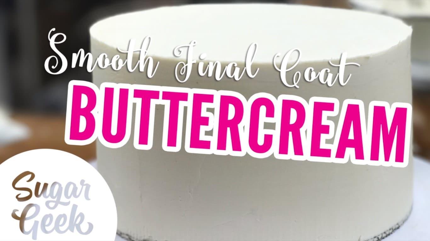 How to do a final coat of buttercream