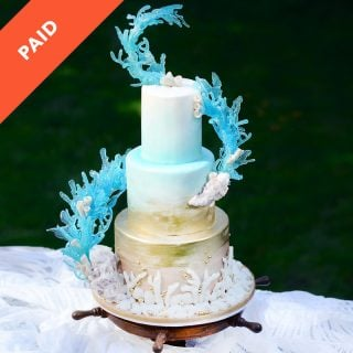 Beachy Wedding Cake Tutorial