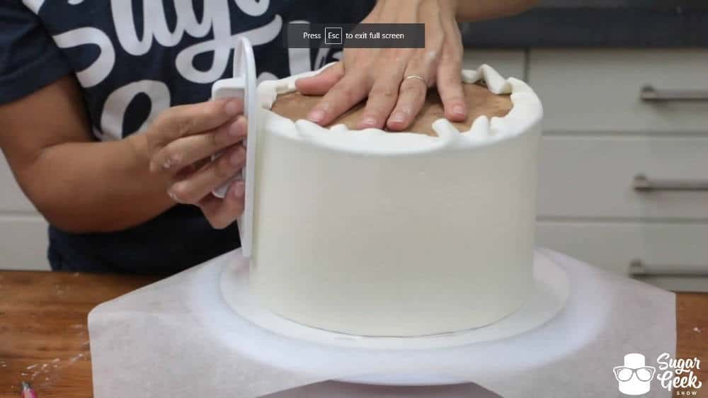 How to get sharp fondant edges