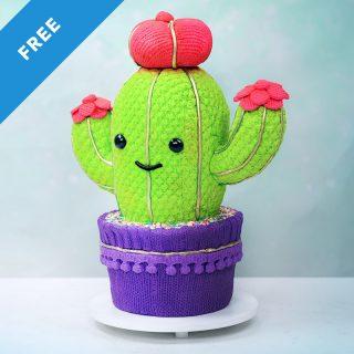 Christmas Cactus Cake Tutorial
