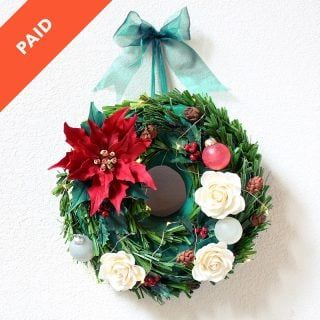 Hanging Christmas Wreath Cake Tutorial