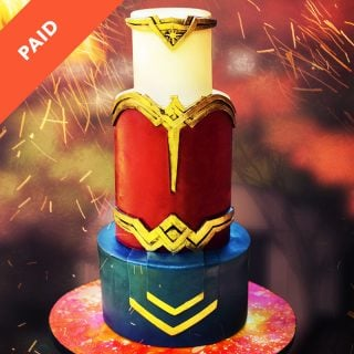 Wonder Woman Tiara Cake Tutorial