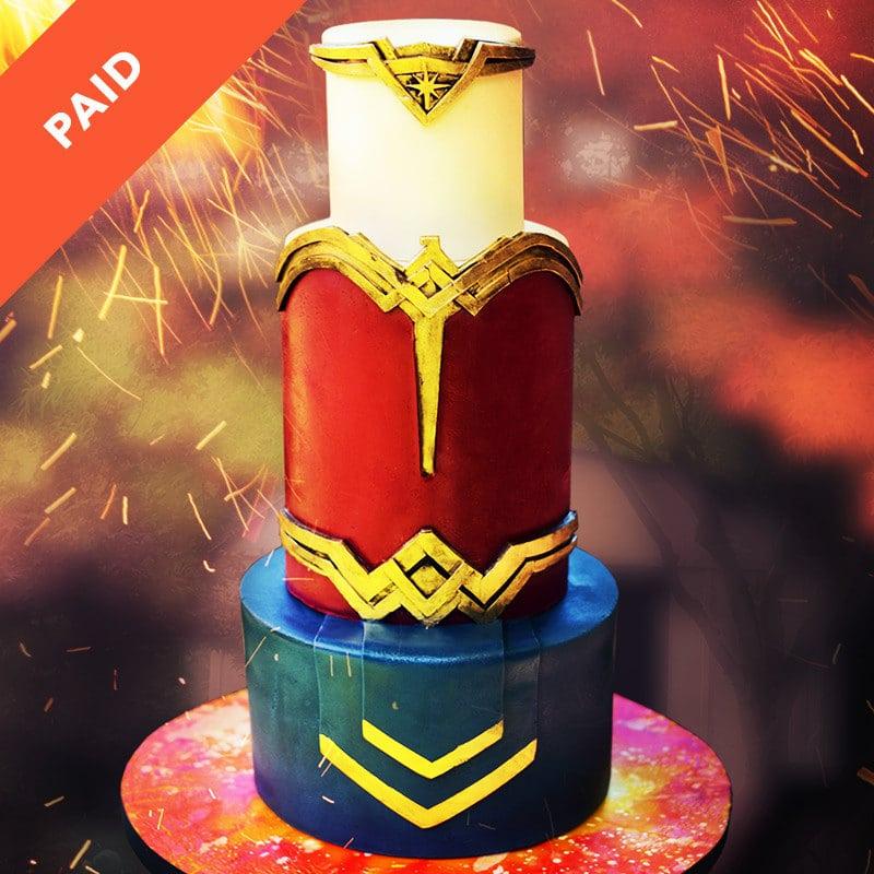 Wonder Woman Tiara Cake Tutorial