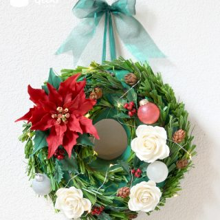 Hanging Christmas Wreath Cake
