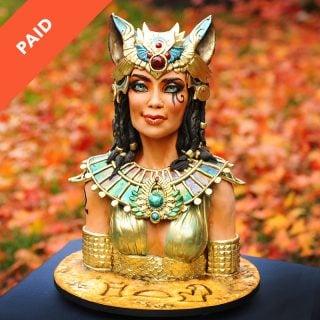 Egyptian Goddess Bust Cake Tutorial