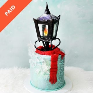 Narnia Lamp Post Cake Tutorial