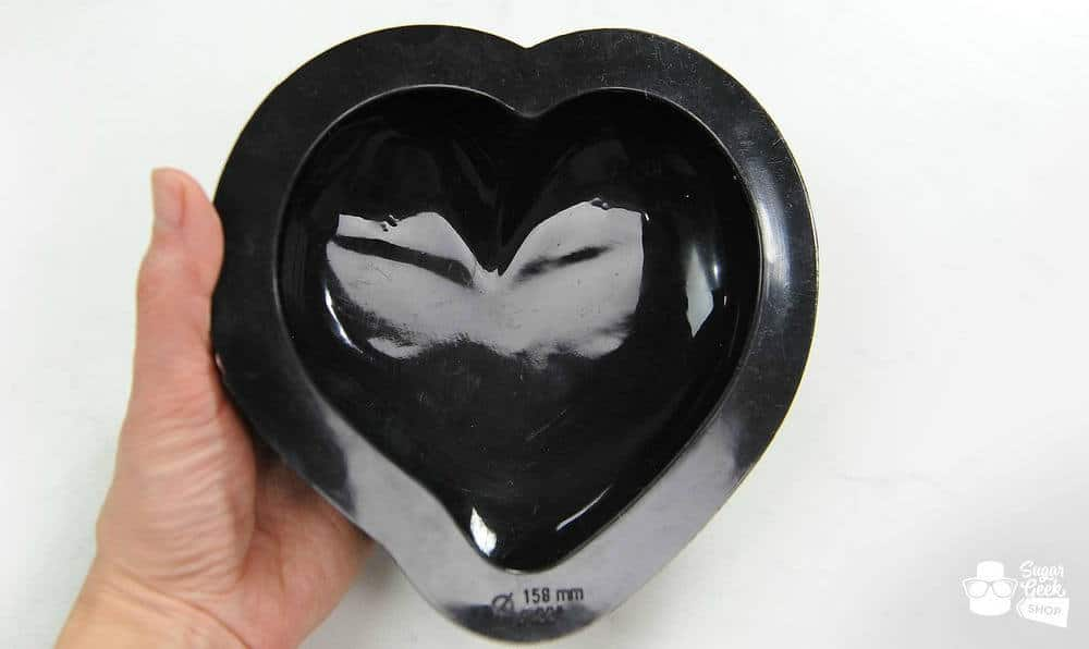 Mirror Glaze Cake Heart Mold