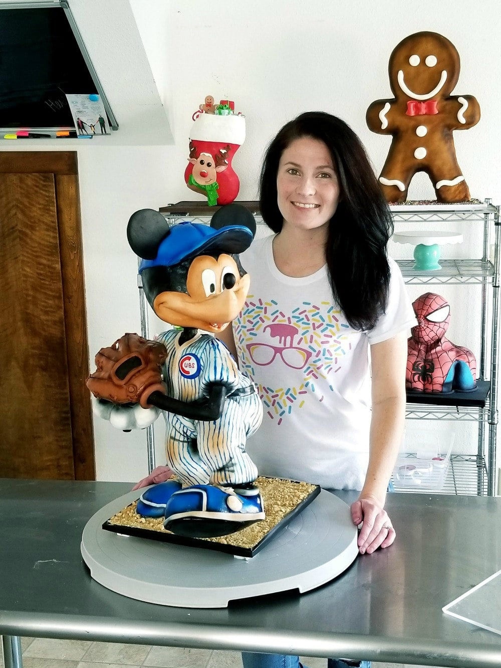 Baseball Mickey Mouse Cake