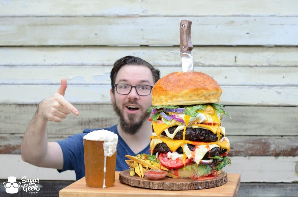 Giant Burger Cake Giant Gummy Beer Dan Marek