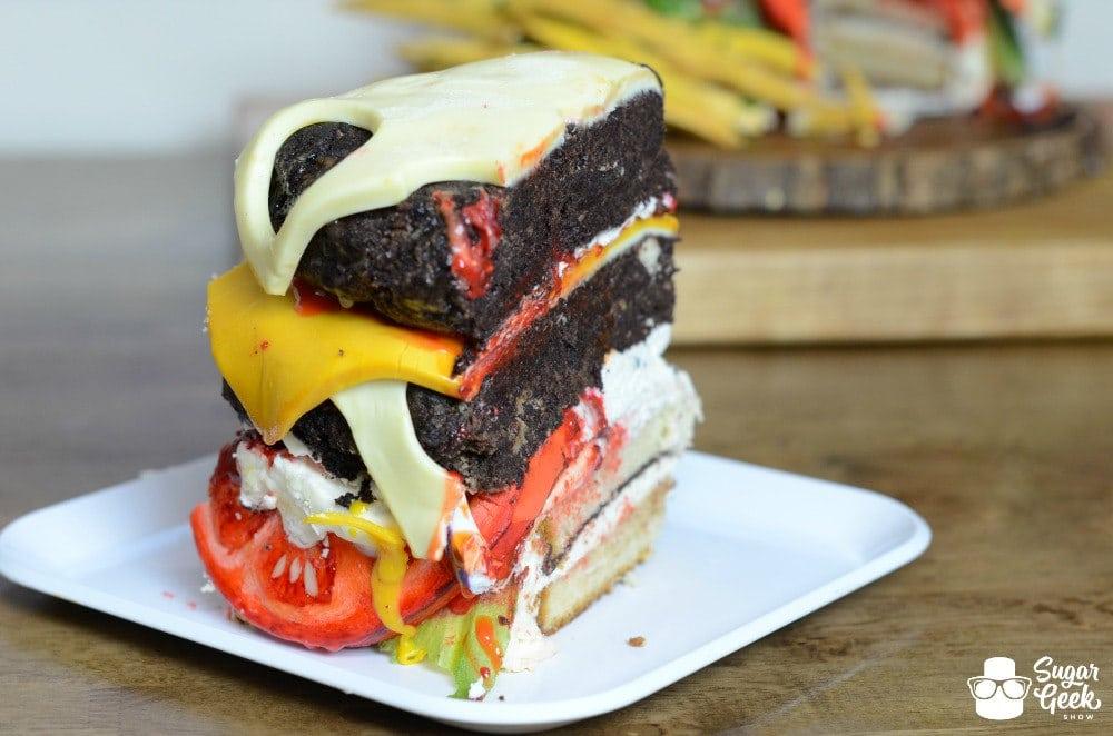 Burger Cake Slice