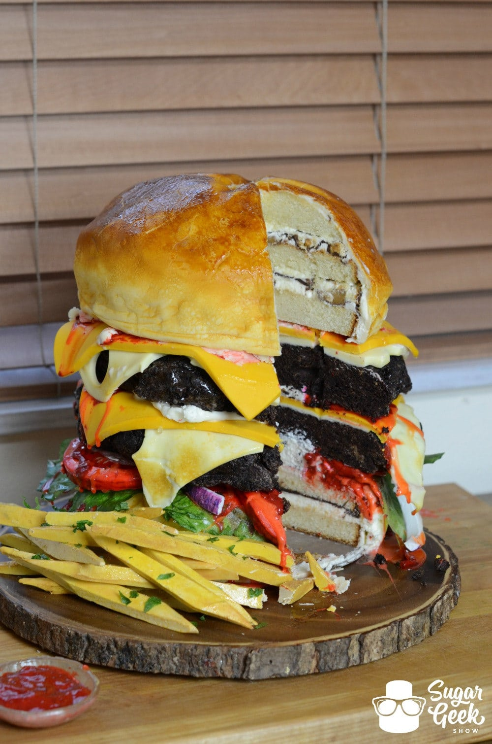 Giant Burger Cake Giant Fondant Fries